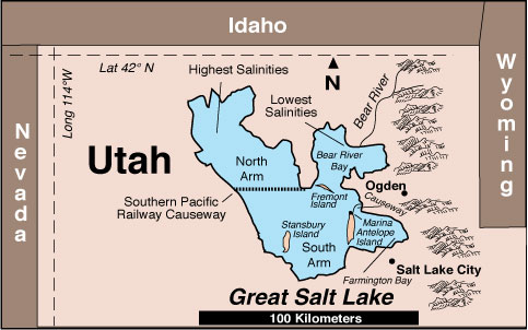 Free News February - Great salt lake on a us map